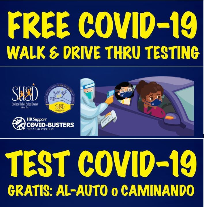 Free COVID-19 Testing at Stockton Unified Schools - See Below to Find a Location Near You