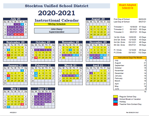 2020-2021 School Year Calendar - Click Here!