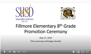 Fillmore Elementary 8th Grade Promotion Video
