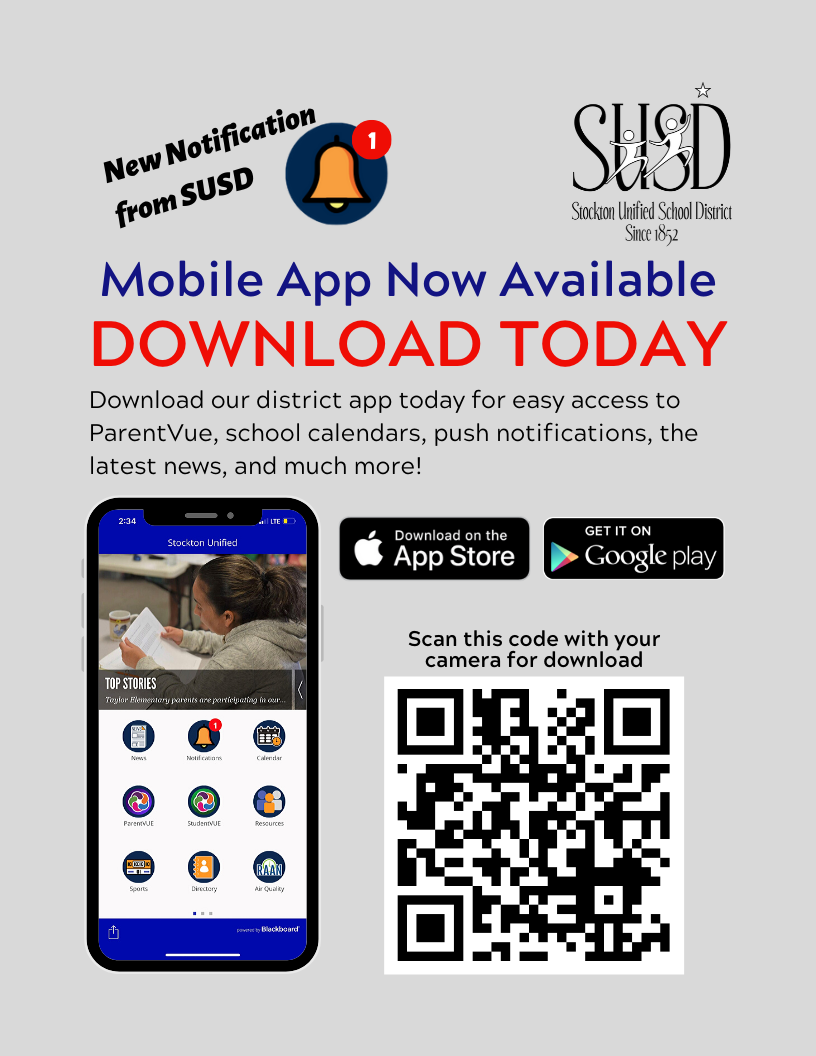 Stockton Unified Mobile App available now