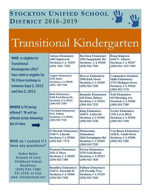 Early Childhood Education Transitional Kindergarten