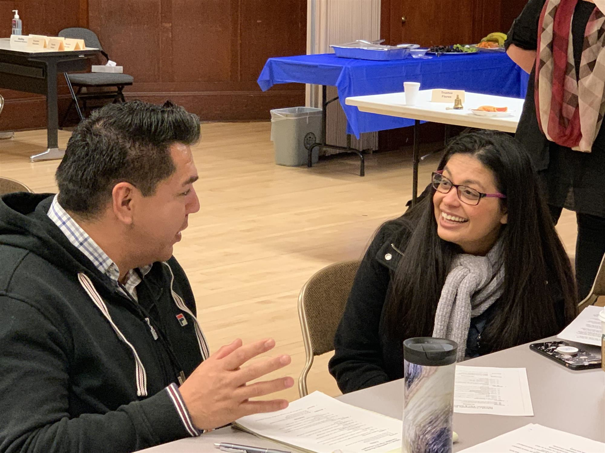 Trustee AngelAnn Flores Visits Family Engagement Professional Development