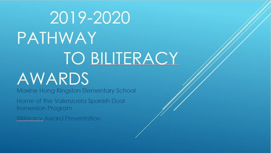 Biliteracy Award Recipients