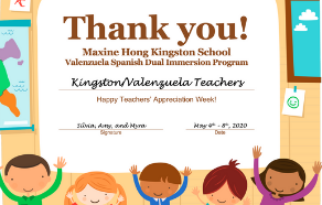 Teacher Appreciation Week 2020