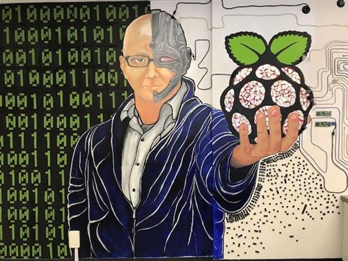 Wall mural of Mr. Wright-Cyborg