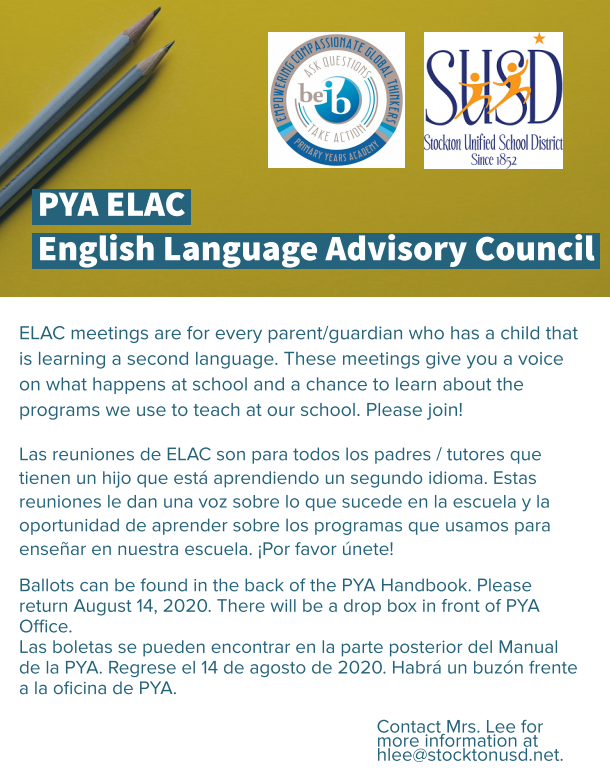 PYA ELAC Nominations: Click here