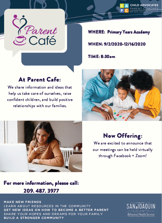 Parent Cafe Is Back!  Click Here for More Info