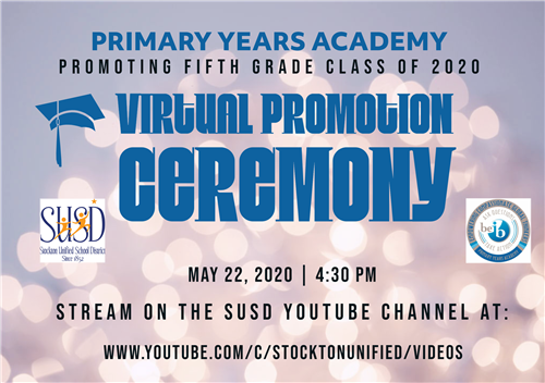 PYA Fifth Grade Virtual Promotion Ceremony