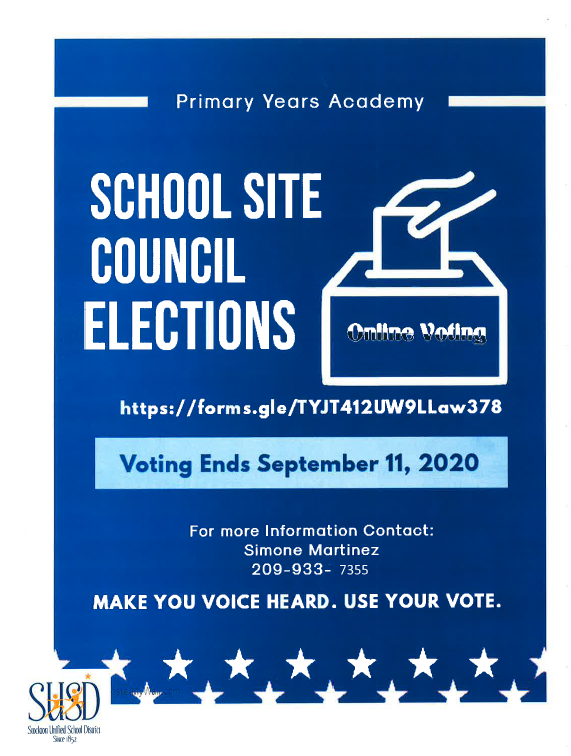 Schoo Site Council Ballots: Click here