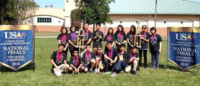 RIO 7TH AND 8TH GRADERS WIN GOLD IN 2018 NATIONAL ACADEMIC PENTATHLON