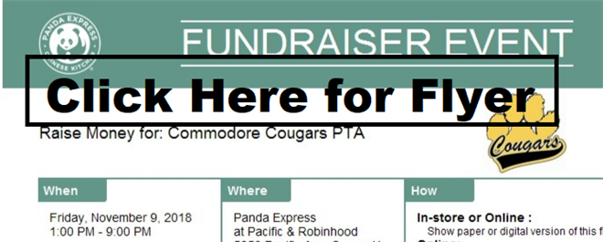 Panda Express Fundraiser- November 9th