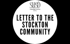 Letter to the Stockton Community from Interim Superintendent Brian Biedermann