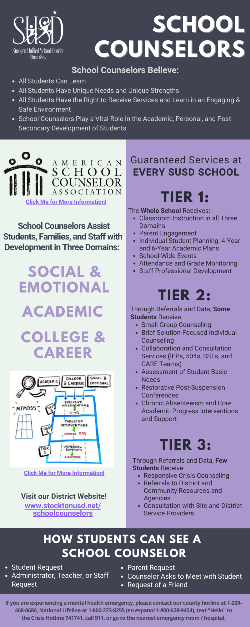 School Counselors Infographic