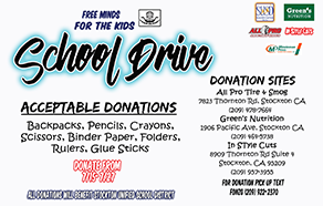 Free Minds for the Kids - School Drive