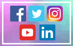 A mix of social media icons
