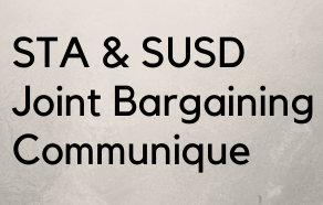 STA & SUSD Joint Bargaining Communique to SUSD Parents, Students, and Staff