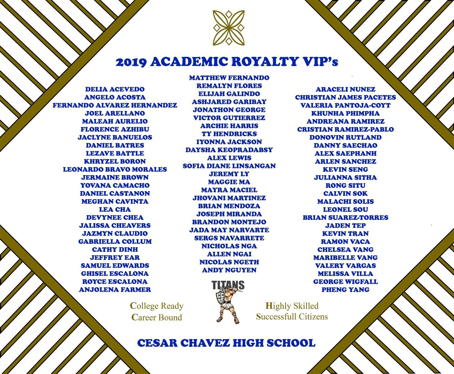 Academic Royalty VIP's
