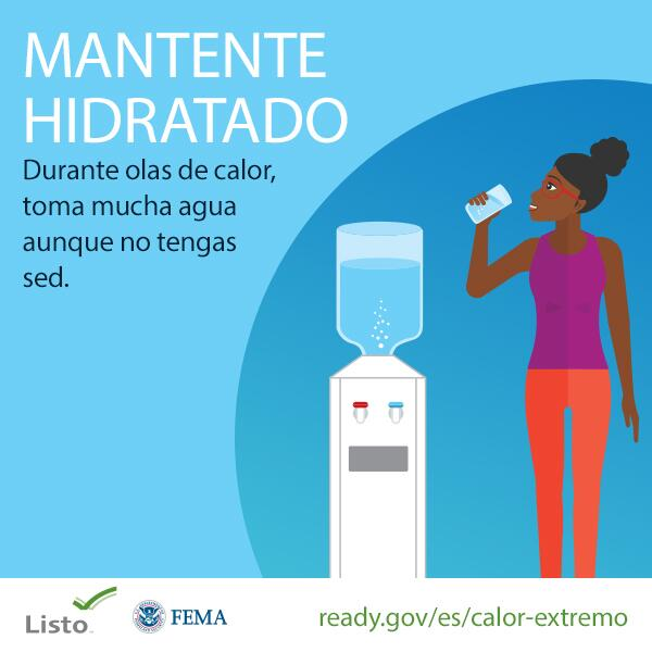 Stay Hydrated (Spanish)