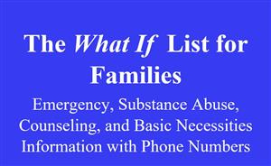 The What If List for Families
