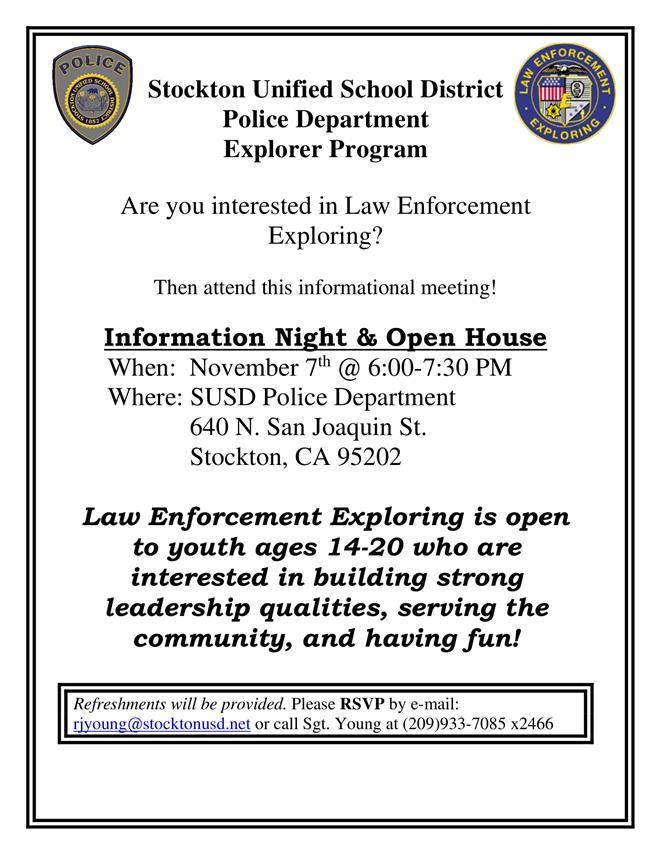 Susd Pd Launches Law Enforcement Explorer Program