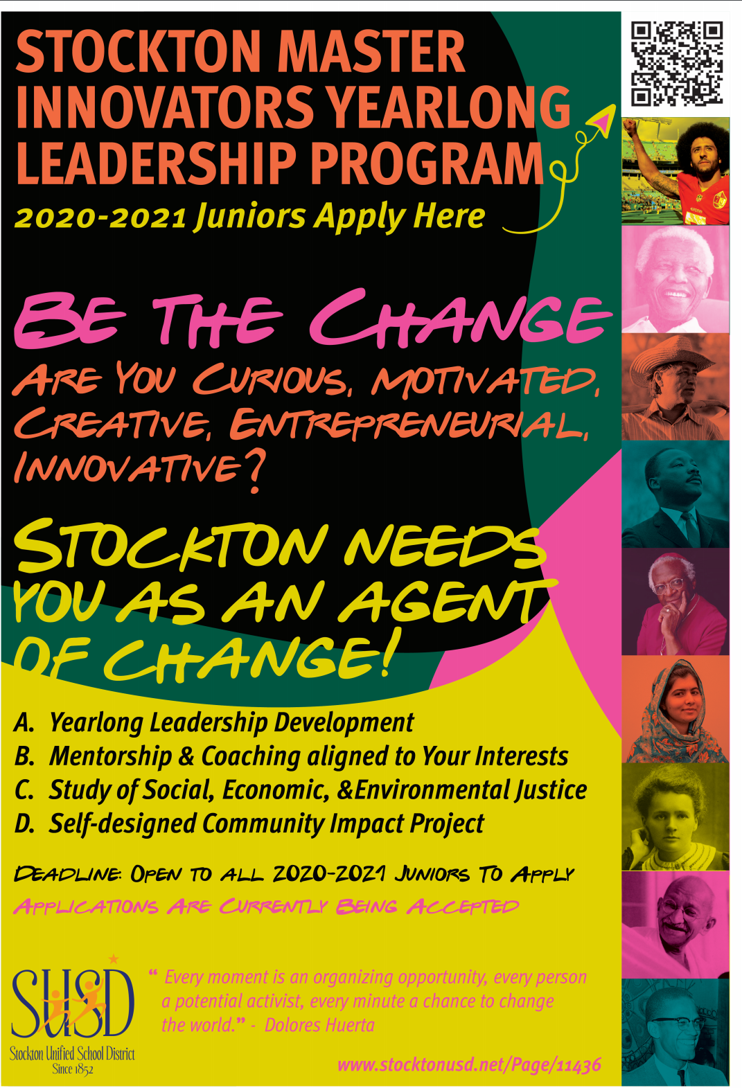 Stockton Mater Innovators 2020-2021- Youth Leadership Opportunity