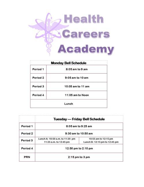 HCA Bell Schedule