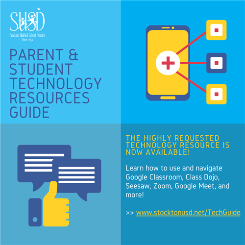 Click here for the parent and student technology resources guide